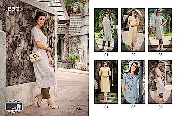 Fabric :- Cotton designer embroidered kurtis   Catlog pisces :- 06  Whatsapp no. 9978610114 gulmoharfashion000@gmail.com