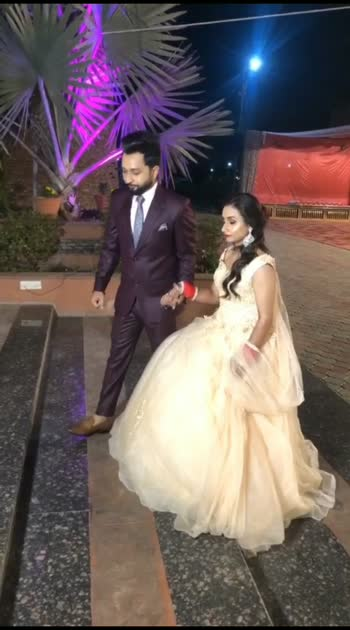 #couplegoals #couple #loveness #love #celebration #love-status-roposo-beats #lovestatus #lovesong #lovesong #love_moments #wedding #bride #fashion #weddinggown #gown #gownstyle #receptionlook