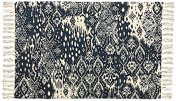 Home Interiors - Floor Rug Abstract Blue Natural  Link: https://www.homeinteriorsuk.com/product/floor-rug-abstract-blue-natural-1273  #homeinteriors #homedecor #interiors #hanging #cushion #curtain