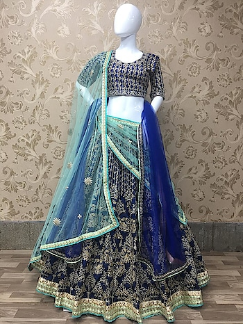 Exclusive Designer Lehenga Choli Collection ♥ Price:- 4999/- To Order WhatsApp us (+91) 8097909000 * * * #lehengas #weddingwear #bridalwear #partywear #partywearlehenga #navyblue #indianwedding #desiwedding #bride #desibride #indianbride #garba #navratri #designer #onlineshopping #wedding #ethnic #beautiful #blue #blouse #elegant #US #usa #internationalshipping