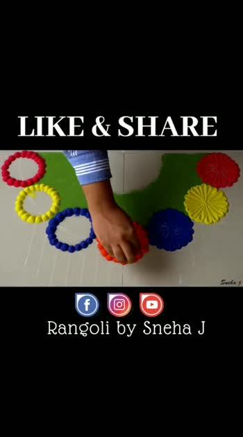 #rangolichannel #rangoliindia #rangolidesign #bestroposo #roposorangolichannel #roposorandoms #roposorangolidesign