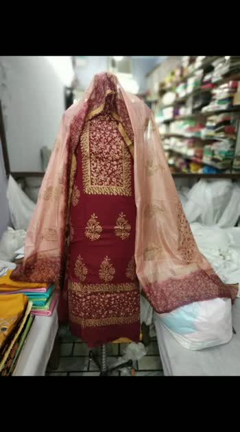 *block printed suits*   STUFF JAM COTTON OF ARIHANT FULL 5 MTRS.   DUPPATTA KOTA DORIYA BSM FULL 2.5 MTRS.    *but now only☺☺ 1900+shipp*🤗🤗  QUALITY ASSURED.  BOOK FAST. PD