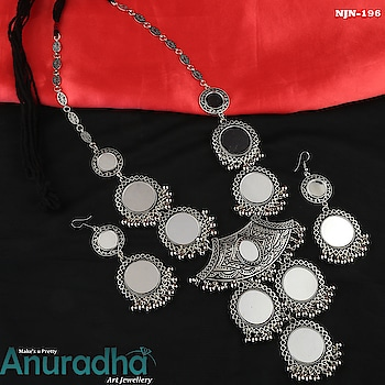 All New Navratri Necklace Collection. Checkout whole collection on this link:https://bit.ly/2GP3DVK . . . . . . . . . . . . . . . #oxidisedjewellery #oxidisedearrings #oxidisednecklace #oxidisedset #haramnecklace #longharamnecklace #haramhaar #junkjewellery #templethreadnecklace #rajasthaninecklaceset #navratrinecklace #oxidisedstonenecklace #germansilvernecklace