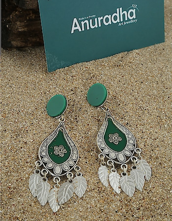 Navratri Green Color Oxidised Finished Jhumka Earrings for Women at Lowest Price http://bit.ly/2I9iATp  #oxidisedjewellery #oxidisedjhumka #oxidisedearringslowprice #navratri2019 #Anuradhaartjewellery #Jewellery #Jhumka #DreamGirl