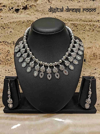 Silver Oxidized Necklace Set with Navratri Rajastani Necklace with Earring❤ Item Code:(🔎14NNS16-470) #Navratri #Garba #Dandiya #SilverJewellery #Pompoms #Borla #Banjara #Jewellery #navratrijewelry #FashionJewellery #ImitationJewellery #BodyJewellery #weddingjewellery #jewelry #Navratra #navratriaccessories #mangalsutra #gujarati #gujaratifestival #southindianjewellery #navratricollection #indianwedding #indianbride #bridaljewelry #ghagracholi #necklace #necklaceset #jewelrysets #oxidizedjewellery