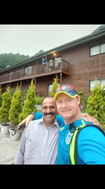 At. Pavilion hotel HPCA Dharamsala with my all time Fav Lance Klusener AllRounder of SA team