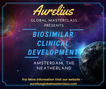 Biosimilars Training Aurelius Global masterclasses is provinding in house training on Biosimilars in Europe. Overview In this Biosimilars Clinical Development Masterclass participants will Totality of the evidence and role of analytical data in Biosimilars In house training. Venue Amsterdam, The Neatherlands https://aureliusglobalmasterclass.com/events/advancing-biosimilars-clinical-development/