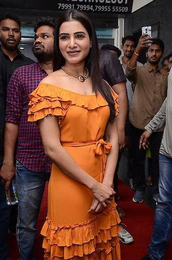 Samantha Akkineni stills at Azent Overseas Education Hyderabad Center Launch https://southindianactress.in/telugu-actress/samantha-akkineni-photos-azent-hyderabad-center-launch/  #samanthaakkineni #southindianactress #tollywood #tollywoodactress #indianactress #indiangirl #orangedress #offshoulder #offshouldertop #fashion #style #southactress
