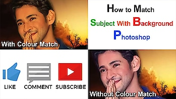 Photoshop Telugu Tutorials:How to Match Subject With Background in Photoshop