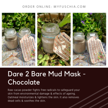 This Chocolate Mud Mask are an amazing Formulation of variety of botanical extracts that works wonders for your skin with their multi-faceted actions. Order on: http://bit.ly/2mo3GR8  #FuschiabyVkare #NaturalSkincare #SkincareTreatment #beautyAddict #NaturalBonds #antiaging #acne #AntiagingSkincare #Myfuschia #NaturalProducts #HandmadeProducts #NaturalIngredients #Agelock #SkincarePackage #SkinHealth #SkincareRoutiine #MensSkincare