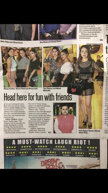 💕♥️ @hindustantimes  @greenvatikarestaurant   #saloni #ahuja #getvoguehere #fashionblogger #travelblogger #feature #party #delhifashionblogger #stylist