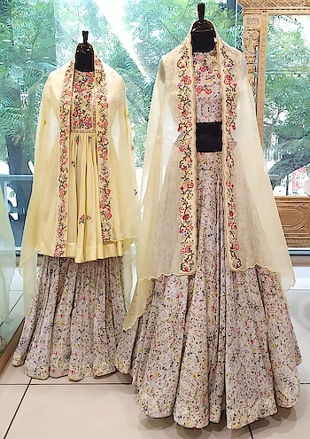 Interplay of prints, pastel pallet and intricate embroidery make these outfits our favorite for upcoming festive season!!! Discover at Deval The Multi Designer Store!!! #devalstore #ahmedabad #gujarat #designerstore #designercollection #designerwear #womenswear #womensclothingstore #multidesignerstore #festivewear #festivecollection #pastelcollection
