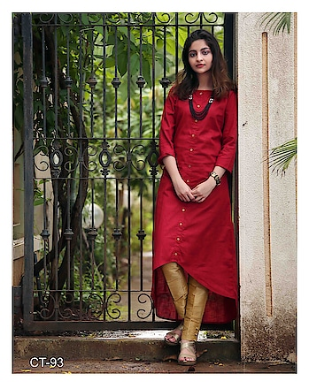 SILK INDIA PRESENTED ELITE KURTI  #designerkurti #redkurti #ethnicwear #onlineshopping #simplewear #officewear #indianwear #womenswear to know more details please whats app on 9820936178