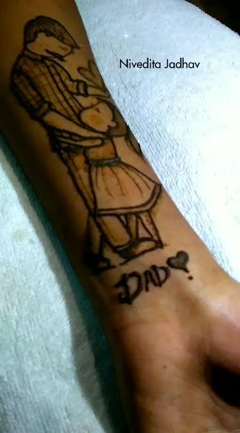 #artbyniveditajadhav #rangolichannel #roposochannel #roposostar #mehendiartistnivedita #mehendidesign #mehendi #roposoindia #tattoo #heena #heenatattoo #art #hennahevean #shareyourlove #fatherslove #fatherdaughter #fathersdayspecial #daughter-dad #daddysgirl #roposolove #roposo-wow #wowchannel #wowchannels