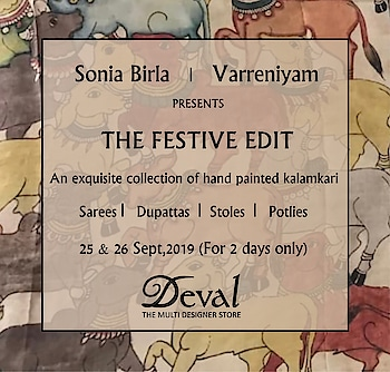 Hand painted Kalamkari sarees, dupattas and stoles using organic colors!!! Showing only Today and Tomorrow at Deval The Multi Designer Store!!! #devalstore #ahmedabad #gujarat #designerstore #designercollection #designerwear #womenswear #womensclothingstore #multidesignerstore #festivewear #festivecollection