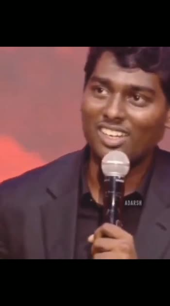 Atlee speech #atleedirector #ilaiyathalapathyvijay #atlee_fan_official #bigil-singapenne #speech #girlspwr