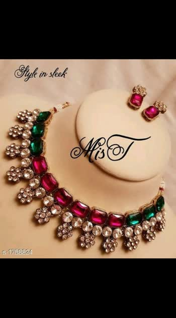winkling Fashionable Alloy Kundan Jewellery Sets #Re1shipping  Material: Alloy Size: Free Size  Description: It Has 1 Piece Of Necklace & 1 Pair Of Earrings Work: Kundan Work Dispatch: 2 - 3 Days