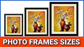 Photoshop Tutorials:Photo frame sizes in Photoshop in Telugu