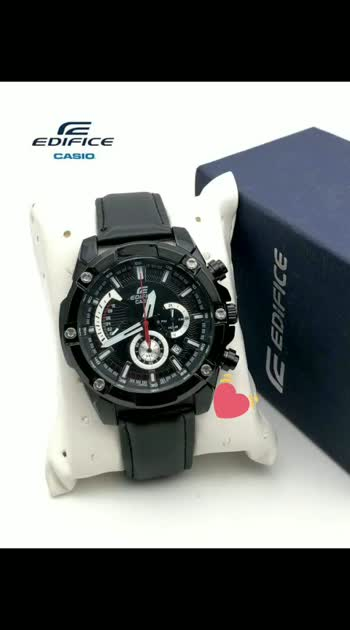 🌟Casio Edifice EFR series updated & Ready to ship today with *Free Casio Edifice original box* 🌟  *Casio* For Men's  Original Model EFR 559 and 556  Feature-         *All Working chronograph*, micro second on top, 1 hour stop watch to left & 1 min at bottom, date displayed with Free Casio Edifice original box 📦 & booket manual  ✨  New model with Price updated & Free Casio Edifice original box 📦 ✨  *Available @ Rs 1400/ Rs ...Casio edifice g box 📦*  ✅ Lm
