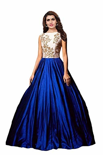 Florence Women #Silk #Partywear Semi-stitched #Gown @ Rs.449. Buy Now at http://bit.ly/2m5OsAr