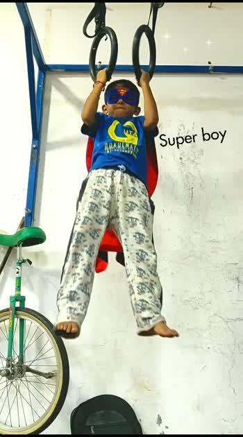super boy, 5 years kid Arjun pullups #wow #pullups #superman #roposostars