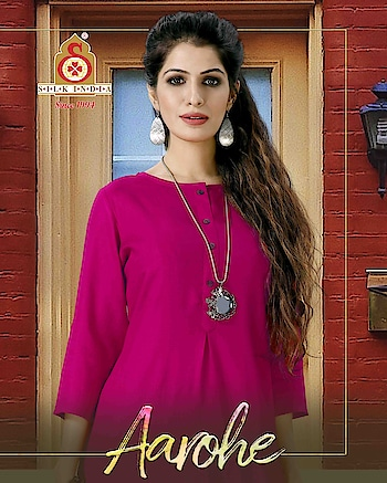 SILK INDIA PRESENTED AAROHE KURTI  #designerkurti #indianwear #ethnicwear #simplewear #officewear #simplestyle #pinkkurti #onlineshopping #stylishkurti to know more details please whats app on 9820936178