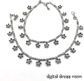Silver Plated Anklets with Metal Alloy Traditional Style Anklets Payal❤ Item Code:(🔎1402NP79-205) #anklet #anklets #payal #silver #silveranklets #silverpayal #floweranklet #flowerpayal #jewellery #germansilveranklets #oxidizedanklets #oxidizedpayal #germananklets #germanpayal #oxidizedjewellery #oxidizedjewelry #artificialjewellery #jewellerylove #indianjewellery #traditionaljewellery #imitationjewellery #indianjewellery #fashionjewellery #bridelwear #brideljewellery #indianwear #mangalsutra #ankletlove #ankletlovers