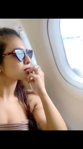 Time to say bye bye to beautiful Udaipur... hope to see you soon again ...🌟🌟 :  #byebyetime #travellingback to #mumbai  #airportoutfit #airportlook #travelinstyle #braids #braidstyles #hairdo #hairstyles #sexy #hot #style #styleblogger #travelgram #styleoftheday #fashionblogger #pollywood #bollywood #punjabi #punjabiactress #sakhiyaangirl #nehamalik #model #actor #blogger #instagram #instafashion #instalike