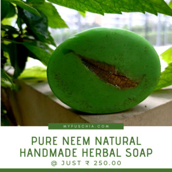 Neem🌿🌿 leaves moisturize your skin and make it soft and supple. It's anti-fungal properties also helps lighten scars and pigmentation that are caused by acne. MYFUSCHIA.COM  #NaturalSkincare #Skincare #NeemSoap #HandmadeHerbalSoap #Acne #antiaging #acneSkincare #AntiagingSkincare #SkincareTreatment #BeautyAddicts #NaturalBonds #neem #ageLock