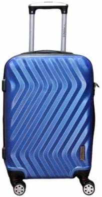 Princeware Blue Trolley Luggage Suitcase Trolley/Travel/Tourist Bag(Small 58 * 38 * 25)  The Princeware hardsided carry-on luggage makes travelling much easier. It is designed specifically to add convenience for travellers who pack light and are always on the move. This carry-on can roll with you without tipping on almost any kind of surface from concrete to tiles to cobblestone.It is a hardsided luggage bag with a solid frame that offers proper protection to the contents inside. It has a lustrous finish and is highly resilient to impacts during bumps, falls or drops.  https://amzn.to/2oQxkPX