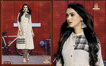 SILK INDIA PRESENTED AROHI KURTI  #designerkurti #ethnicwear #onlineshopping #creamkurti #simplewear #officewear #factionwear #womenswear to know more details please whats app on 9820936178