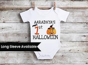 My First Halloween Baby Girl Onesie  Newborn Halloween Outfits Contact :+918000011699 Shop Now : https://www.pinkblueindia.com/first-halloween-baby-onesie.html  #halloweenromper #babyboyromper #newborngift #halloweenbodysuit #halloween2019 #halloweenonesie #myfirsthalloween #onesie #myfirsthalloweencostume #newbornbaby #halloweenbabyoutfit #babyfashion #romper #babyoutfit #mybaby #halloweenoutfit #pinkblueindia