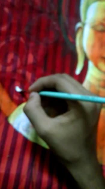 kurti painting  #buddha #art #painting