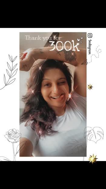 Thank you for #300kfollowers #instagramers #loadsoflove @aartiinaagpal