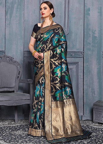 Look Elegant In This Turquoise Blue Handloom Weaving Silk Saree With Silk Blouse. Blouse Can Be Made Upto 42 Inches.  https://www.manndola.com/gorgeous-turquoise-blue-party-wear-saree