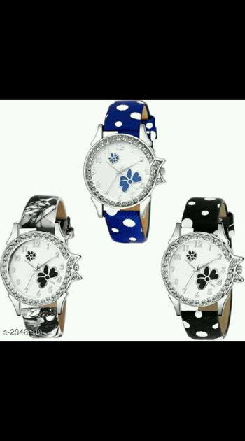 leather women's wacth's Rs.400