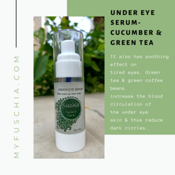 GRAB THIS 'UNDER EYE SERUM- CUCUMBER & GREEN TEA' 😁 Without any Shipping Charges Order Online: MYFUSCHIA.COM  #Fuschia #NaturalSkincare #HandmadeProducts #SkincareTreatment #Beautyaddicts #serums #UnderEyeSerum #cucumber #Greentea #NaturalBonds #LiveYoung #acne #Antiaging #AntiagingSkincare