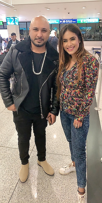 When you bumped into such an amazing Punjabi Singer at the airport ✈️✈️😍 it was lovely meeting u @bpraak , would love to work with you soon 😊😊 : #aboutlastnight #dubaiairport #dxb #dubai #airportdiaries #bpraak #punjabisinger #randommeetup #randomclick #instantpollywood #pollywood #pollywoodsongs #fame #punjab #punjabisongs #airportclick #nehamalik #model #actor #blogger #instagram #instagood #instafollow