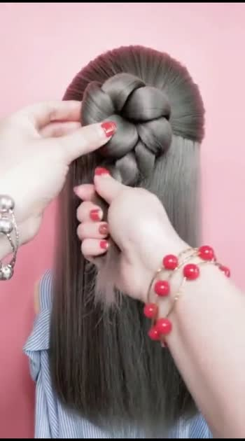 #hairstyles #poni #partywear