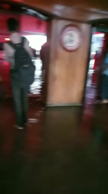 Kazipet Railway station Due to Today's Evening Heavy Downpour