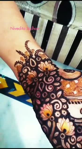 Lotus with indo Western design ♥️♥️