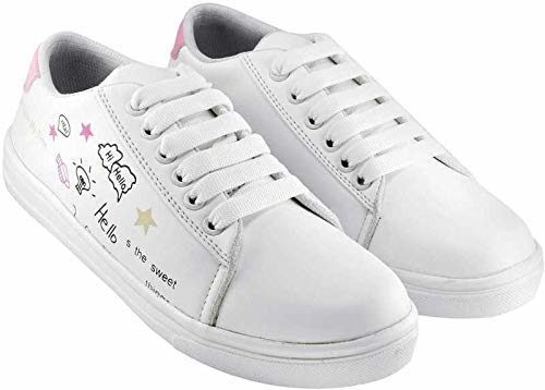 Princess baby Sneakers for Women  Closure: Lace-Up Color: White Package Contents: 1 Pair of Sneaker Shoes Occasion: Casual, Daily Wear; Toe Style: Closed-Toe These women's Premium Canvas Sneaker shoes combine the flexibility and feel of lightweight sneakers with a modern look.  https://amzn.to/361aM05
