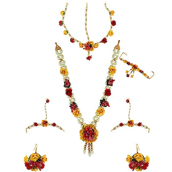 Exclusive collection of Flower Jewellery. To see more design click on the link: http://bit.ly/2PrgD96 - - - - - - - - - - - - #flowerjewellery #handmadejewellery #floraljewellery #jewelleryonline #designflowerjewellery #latestjewellery #weddingjewellery #diwali2019 #housefull4 #anuradhaartjewellery