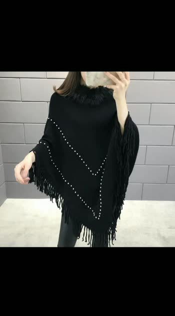 👗 *Beautiful 2019 Faux Fur Collar Pullovers Elegant Beading works Tassel poncho* 👗  🍒Fabric   shrug - woolen Size - upto 42  *Price-1100+ shipping*  Gud Qlty 👌  *Six color in one set*  *Ready for Dispatch* book your order fast ➖➖➖➖➖➖➖➖➖➖ ✖✖✖✖✖✖✖✖✖✖✖✖✖✖✖✖✖✖✖✖✖✖✖✖