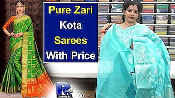 Pure Zari Kota Sarees With Price | Latest Collections of Pure Zari Kota And Pattu Sarees |Reality Tv