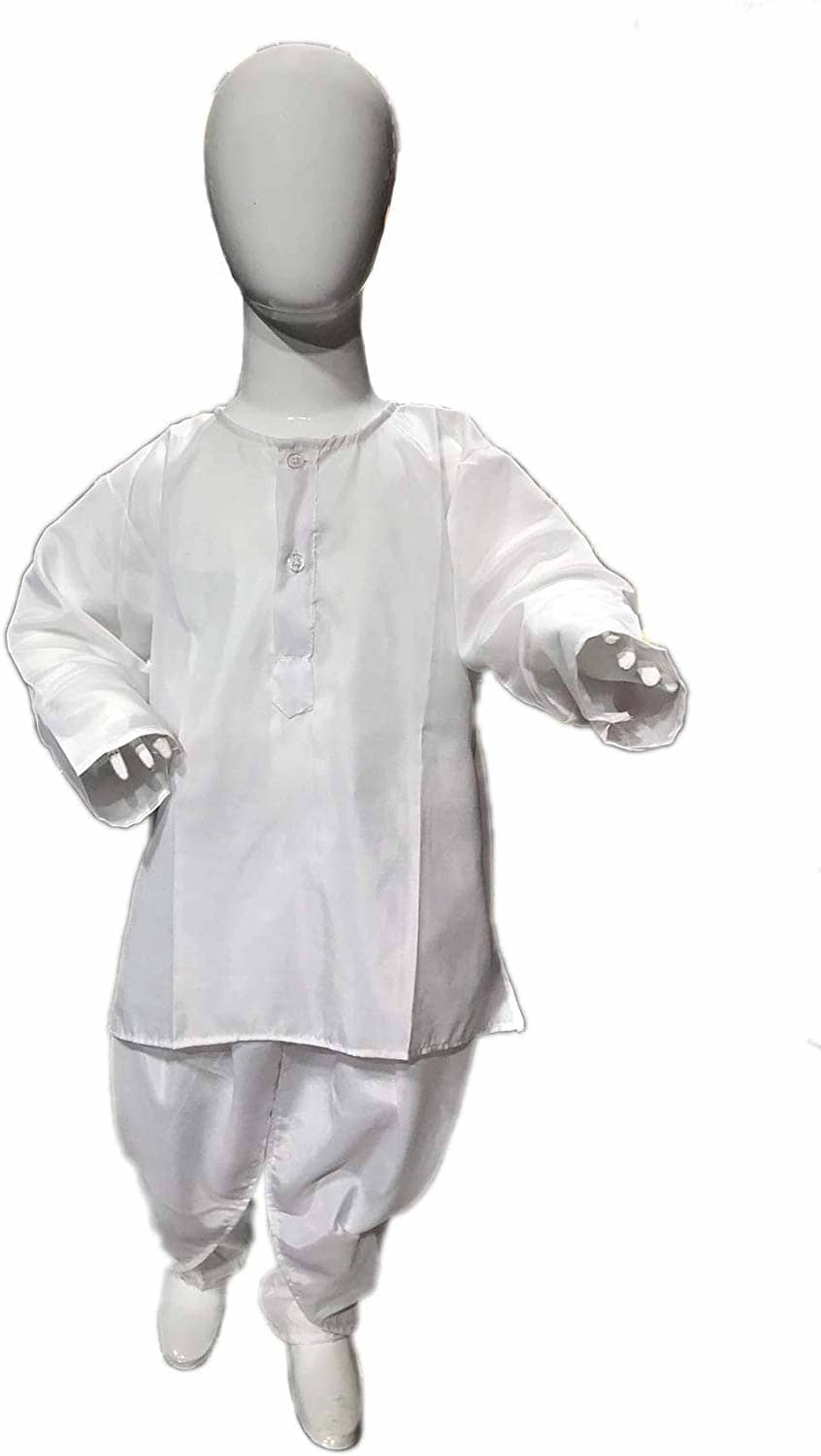 CHANDU KI DUKAN White Dhoti Kurta 2-3 YRS Traditional Costume  1)CHANDU KI DUKAN WHITE DHOTI KURTA INCLUDES EVERTHING A CHILD NEEDS. 2)Material: made of very soft & breathable fabric. 3)COSTUME FOR SCHOOL ANNUAL FUNCTION/THEME PARTY/COMPETITION AND STAGE SHOWS  https://www.amazon.in/dp/B07YSKTT6H?ref=myi_title_dp