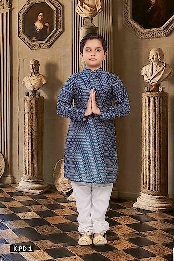 SILK INDIA PRESENTED PRINTED DELIGHT COLLECTION  #designerwear #kidswear #ethnicwear #indianwear #festivewear #factionwear #weddingwear #onlineshopping #bluekurta #whitebottom #kidskurta to know more details please whats app on 9820936178