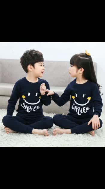 Restock  Kids Unisex cotton night suit(Pack of one ) Ideal for winter and summer both   Sizes 2-12 years   Price 2-6years @850           7-12years. @950  Free shipping 🤗