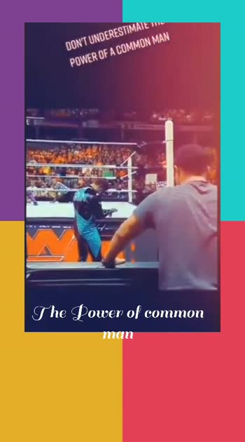 The Power of a common Man #wwe #wwesuperstars #wwesuperstar #wwevideo #wwestar #wwesuper #wwesuperhero #wwefans #wwevideos #wwe