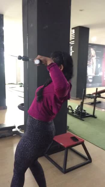 Face pull workout for beautiful back #lats #shoulders #hyderabad #roposo #fitlife #fitspo